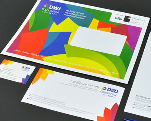 DWJ Colourprint stationery design