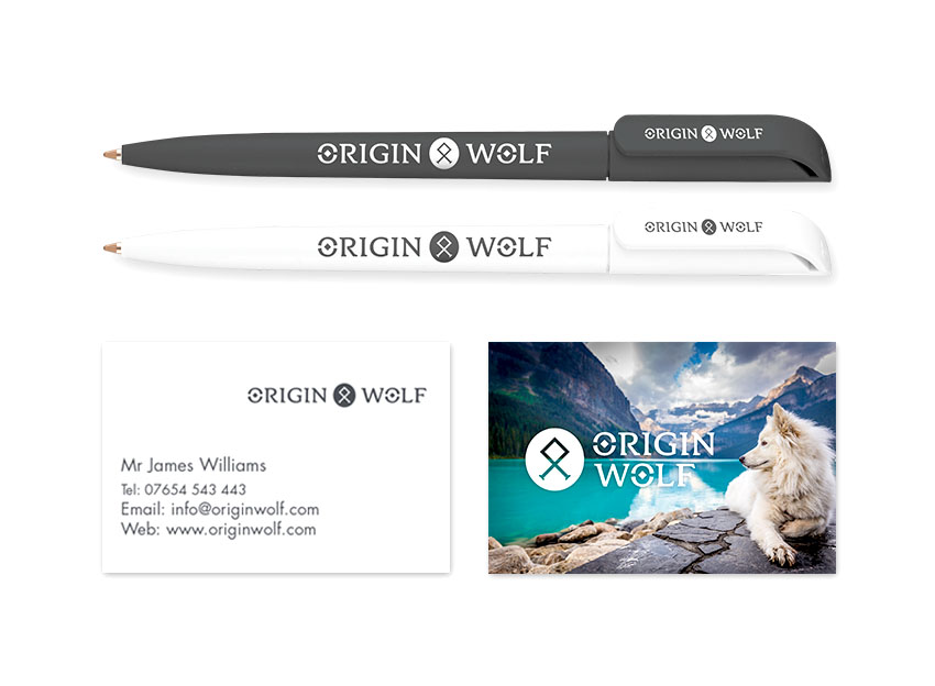 Origin Wolf - Stationery design